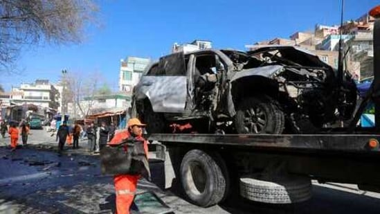 A private car belonging to police officers was the target of the explosion.(AP file photo)
