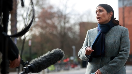 Britain's Secretary of State of the Home Department Priti Patel speaks to the media at Westminster, in London, Britain, January 18, 2021. REUTERS/Hannah McKay(REUTERS)