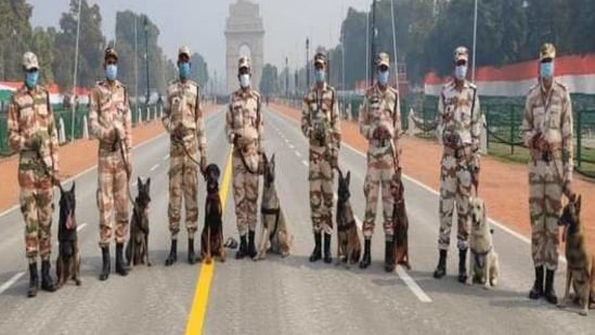 ITBP's K9 team includes dogs like Belgian Malinois.(ANI)