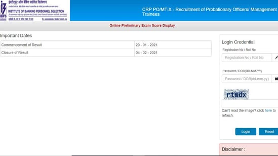 IBPS on Wednesday released the scores of preliminary exam to recruit probationary officers (PO)/management trainees (CRP PO/MT-X).(ibps.in)