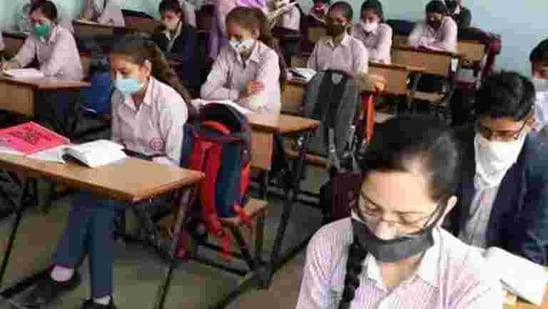 The Haryana school education department asked students to submit a medical certificate before joining class.(Manoj Dhaka/HT file)