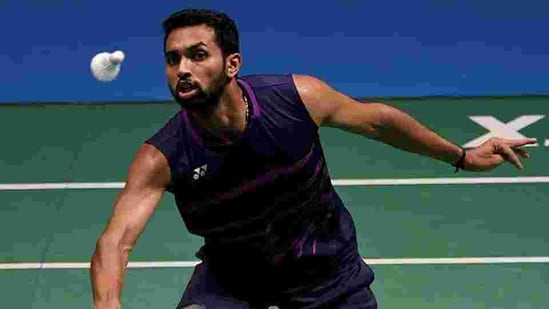 HS Prannoy in action. File(Getty Images)