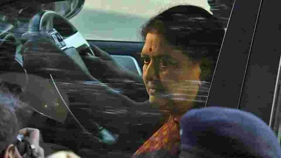 After serving her term in the prison for more than four years and a fine of <span class='webrupee'>₹</span>10 crore was paid, Sasikala was set for release from the prison on January 27, 2021.(PTI Photo)