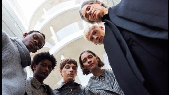 Models in Alessandro Sartori's creations (Photo: Instagram/Zegna)