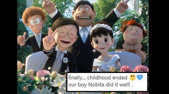 The image shows Nobita married to Shizuka.(Twitter)