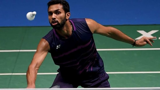 HS Prannoy in action. (Getty Images)
