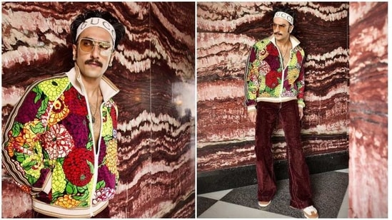 Ranveer Singh in his colourful new outfit.
