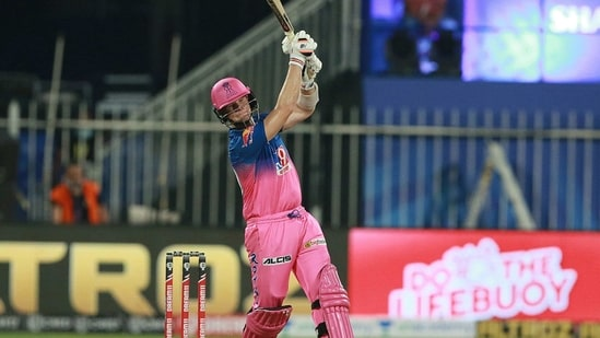 Steve Smith in action for Rajasthan Royals(IPL)