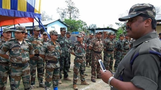 File photo of an ULFA cadre in 2011.(Mint File Photo)