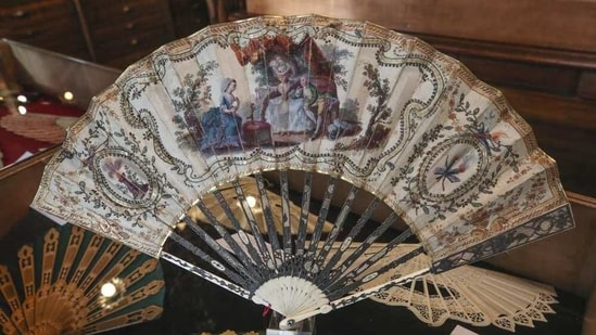 The studio that teaches design and restoration to a new generation of fan-makers was placed on France's intangible heritage list last year.(AP)