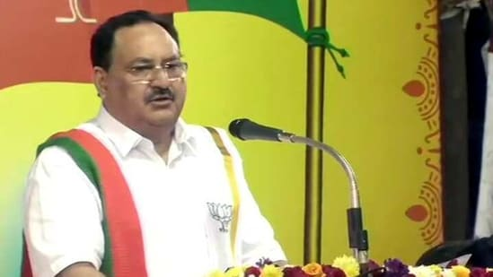 BJP president JP Nadda will visit Chinhat in Uttar Pradesh on Friday to hold a meeting with the workers of the rural areas. (ANI PHOTO).