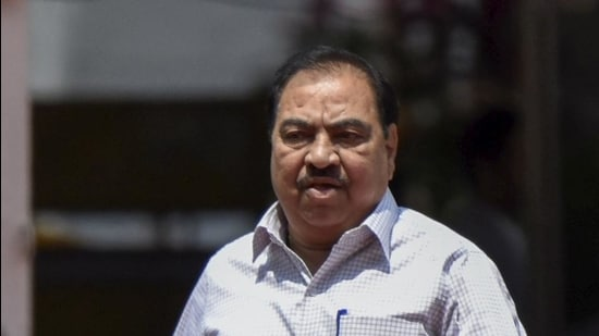 The Bombay high court had sought to know why ED could not desist from taking action against Khadse for a few days as he had already appeared before ED concerning the case. (HT FILE)