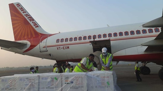 Two Indian flights carried two million doses of Covishield to Dhaka and one million doses to Kathmandu on Thursday. (MEA)