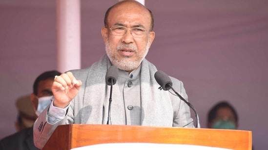Manipur chief minister N Biren Singh(HT Photo )