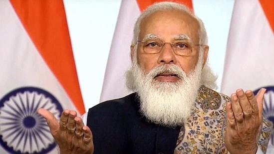 **EDS: VIDEO GRAB FROM OFFICIAL YOUTUBE CHANNEL OF PM MODI** New Delhi: Prime Minister Narendra Modi virtually launches pan-India rollout of COVID-19 vaccination drive, in New Delhi, Saturday, Jan. 16, 2021. (PTI Photo)(PTI01_16_2021_000040B)(PTI)