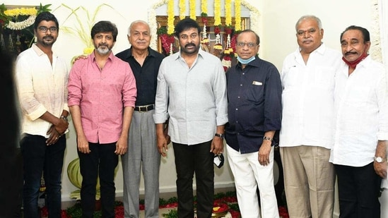 Lucifer Telugu remake with Chiranjeevi launched, see pics