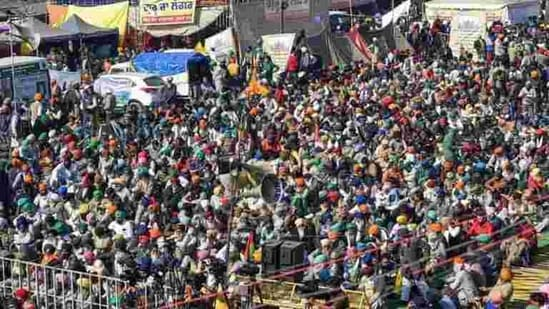 A statement put out by the unions said a full general body meeting of the Samyukt Kisan Morcha was held on Thursday.(PTI Photo)