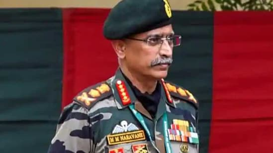 """He also said the unresolved borders and wars in the past with """"our adversaries"""" challenge the myth of 'no conventional war', adding proxy war, 'Left wing extremism' and insurgencies are likely to keep the Army occupied.(PTI Photo)"""