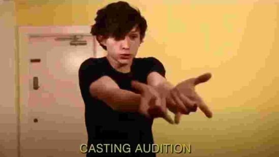 Tom Holland in his audition tape for Spider-Man.