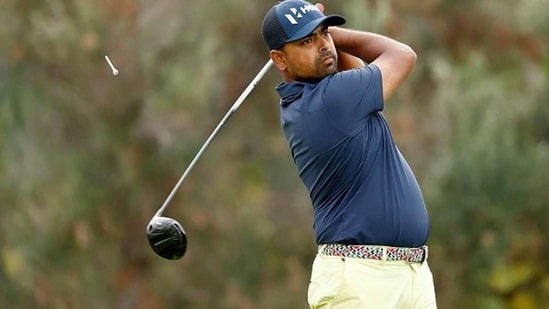 Anirban Lahiri in action earlier this month in Hawaii. (Getty Images)