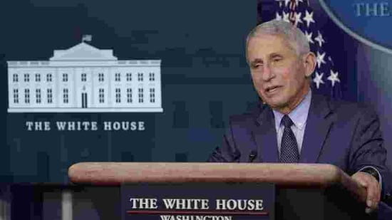 Dr. Anthony Fauci, director of the National Institute of Allergy and Infectious Diseases, speaks during a briefing with the coronavirus task force at the White House in Washington, Thursday, Nov. 19, 2020. (AP Photo/Susan Walsh)