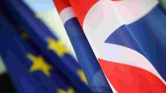 """British Prime Minister Boris Johnson's spokesman, Jamie Davies, said the Foreign Office was in talks with the EU about """"the long-term arrangements for the EU delegation in the U.K.""""(REUTERS)"""