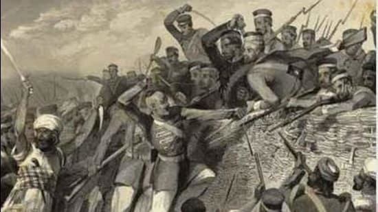 During the mutiny in 1857, soldiers rebelled against the East India Company rule in the first-ever large-scale attempt to get rid of the British. (HT Archives)