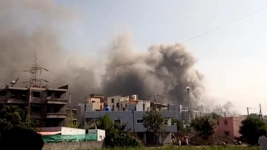Pune's Mayor Murlidhar Mohol said a call was received at 2.50pm following which 10 fire tenders and at least two extra tankers were rushed to the spot.