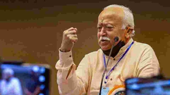 RSS chief Mohan Bhagwat also stressed on the need for educating girls.(PTI)