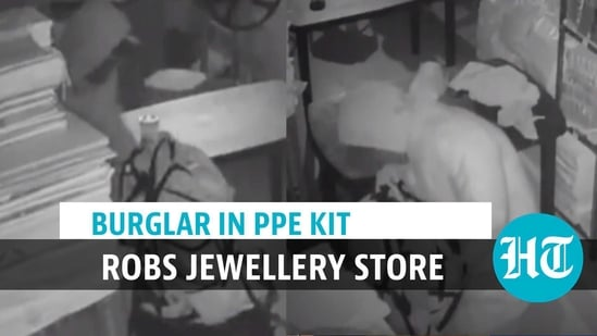 Caught on camera: Man wearing PPE kit robs jewellery store in Delhi