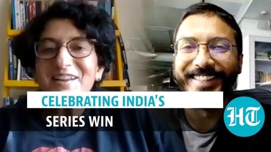 Celebrating India's series win