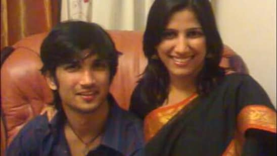 Sushant Singh Rajput with his sister Priyanka.