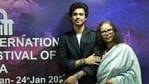 The late Irrfan Khan's wife and son at a special screening, conducted in his honour at IFFI Goa.