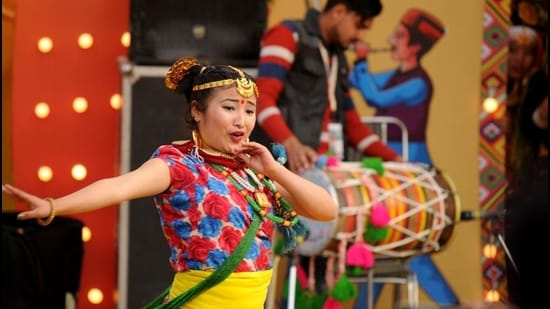 An artiste from Sikkim. (HT Archive)