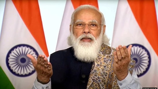 The Prime Minister said that today's India is not afraid of working on experiments for solving problems.(PTI)