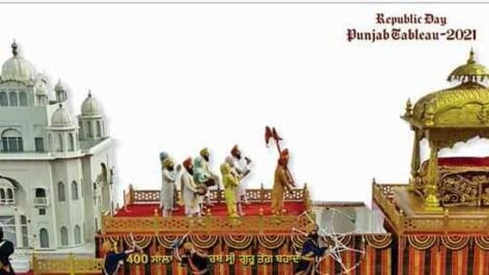 The tableau of Punjab has been selected for the Republic Day parade for the fifth consecutive year.(ANI/Twitter)
