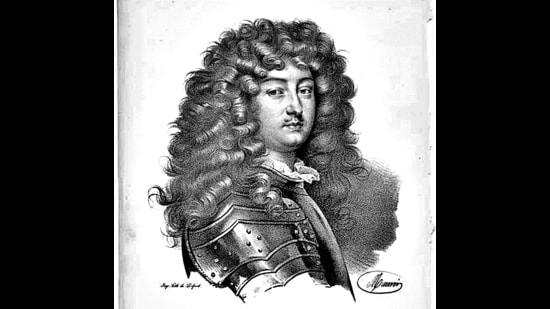 The outbreak of syphilis caused the men's periwig to catch on in the 17th century. Royals like King Louis XIV of France wore it to hide hair loss. (New York Public Library)