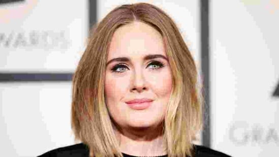 Singer Adele arrives at the 58th Grammy Awards in Los Angeles, California.(REUTERS)