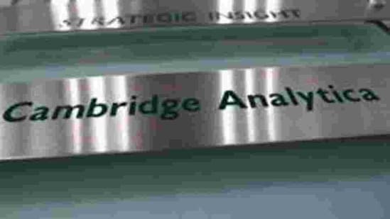 The nameplate of political consultancy, Cambridge Analytica, is seen in central London, Britain. (Reuters File Photo)