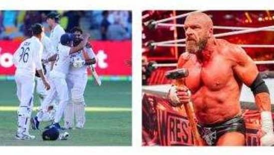 Indian cricket team and Triple H.(AP/ WWE)