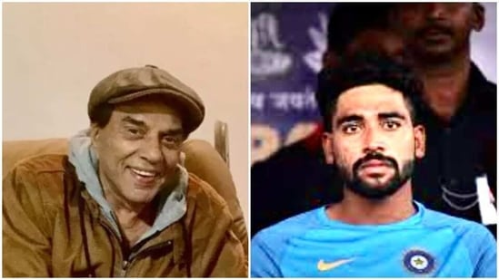 Dharmendra is proud of Mohammed Siraj for how he played the match despite his father's recent death.