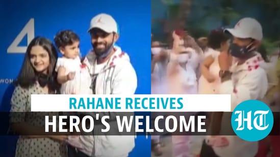Mumbai: Ajinkya Rahane welcomed with dhol, flowers after historic Australia tour