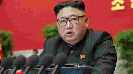 North Korean leader Kim Jong Un speaks during the 8th Congress of the Workers' Party in Pyongyang, North Korea.(REUTERS)
