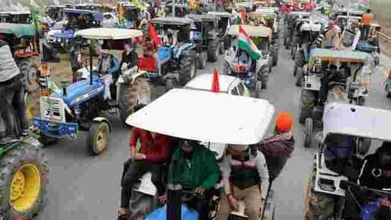 Police teams will escort the tractors on the day of the rally to maintain law and order.(Reuters file photo)