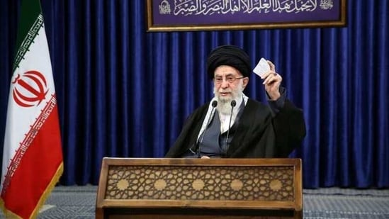 The image first appeared on a Persian-language Twitter feed that carried a link to Ayatollah Ali Khamenei's website.(Reuters file photo)