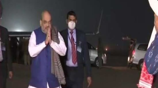 Shah, on January 24, will hold two public meetings in Assam, which is scheduled to go to the polls later this year.(ANI/Twitter)