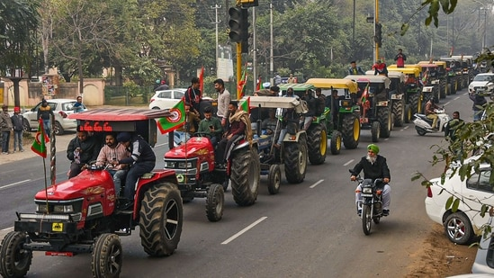 Farmer leaders said that the tractor parade would be peaceful.(PTI)