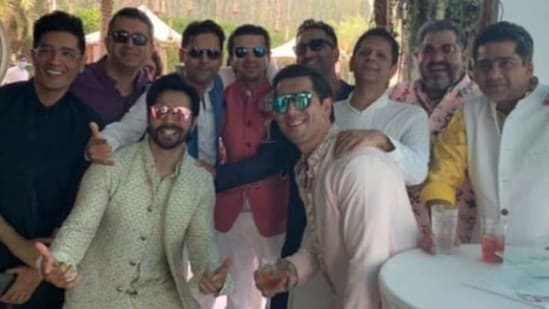 This picture of Varun Dhawan and his friends has made its way online.