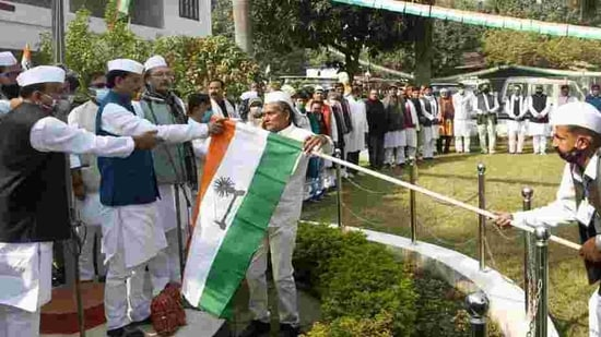 The Bihar Pradesh Congress Committee (BPCC) chief Madan Mohan Jha strongly denied any fear of a spilt in the party(HT Photo)