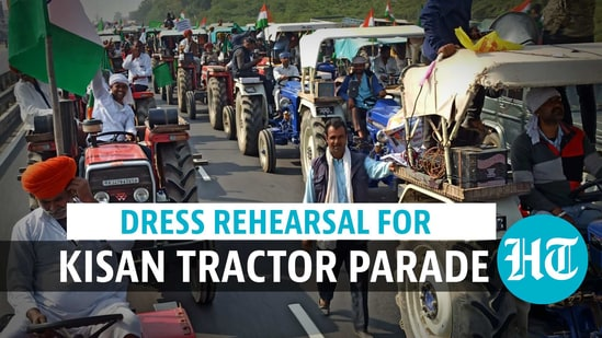 R-day: Protesting farmers' dress rehearsal for parallel parade in Delhi